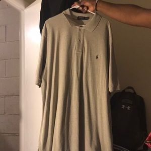 Men's grey polo shirt. Size 3xl Tall